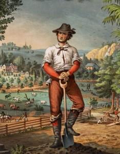 Romantic Image of the Yoeman Farmer.